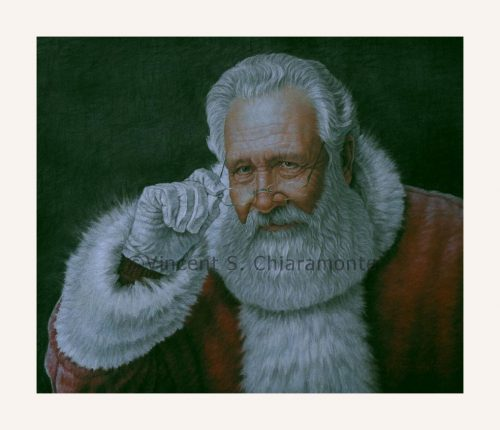 image of a painting of Santa Claus by Vincent Chiaramonte