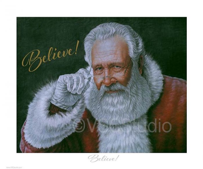 image of a painting of santa claus