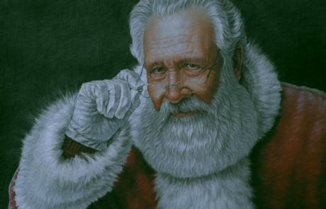 painting of santa claus