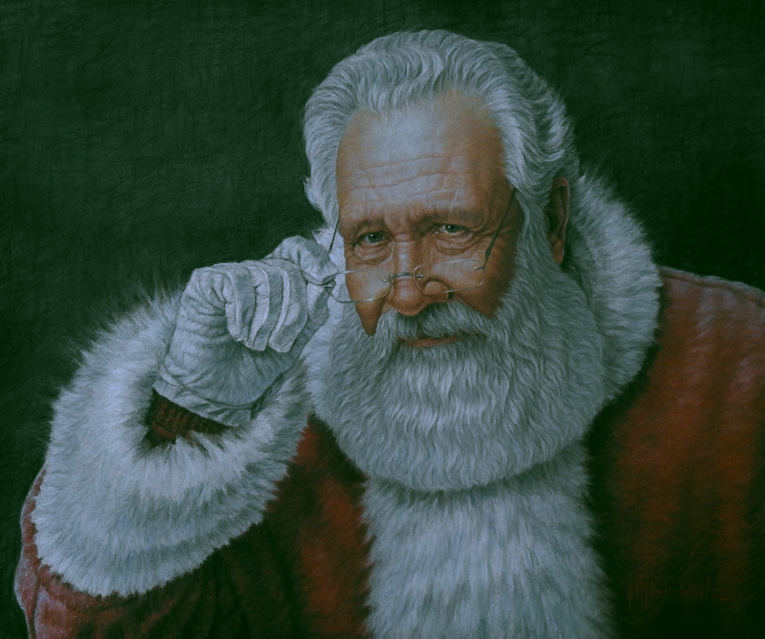 painting of santa claus