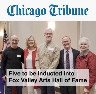 image of chicago tribune announcing inductees