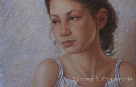 pastel painting of a girl