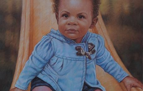 pastel painting of a toddler named Lissette