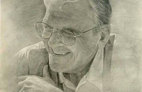 charcoal drawing of a man
