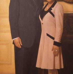 oil painting of dennis and stacey barsema
