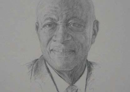 charcoal drawing of congressman ed townes