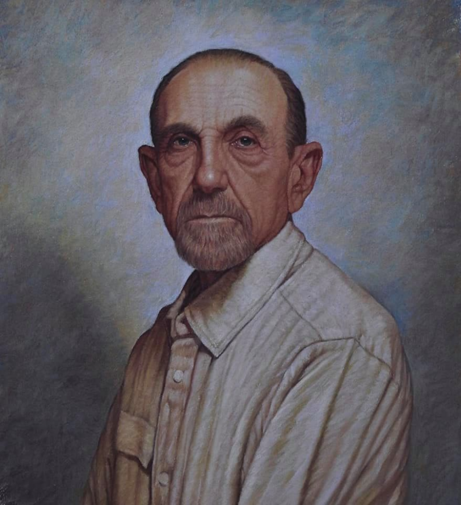 pastel painting of a man called Howard by Vincent Chiaramonte