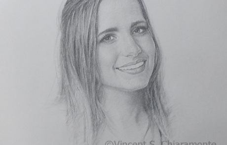 charcoal drawing of a woman