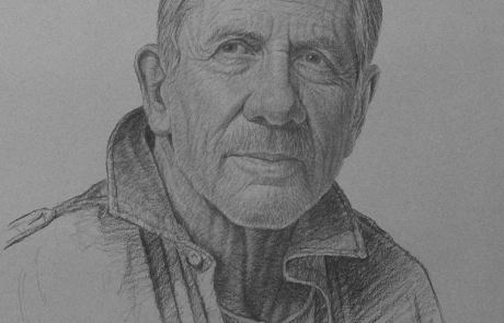 charcoal drawing of a man named Mark
