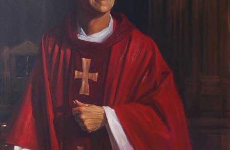 oil painting of monsignor dan hermes