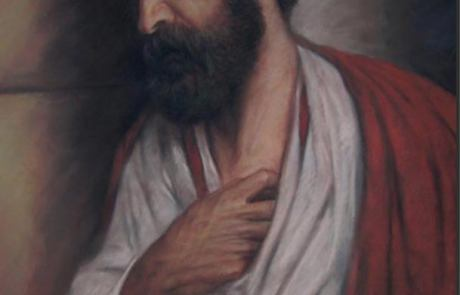 pastel painting of apostle Peter
