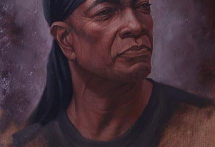 oil painting of a black man named Richard