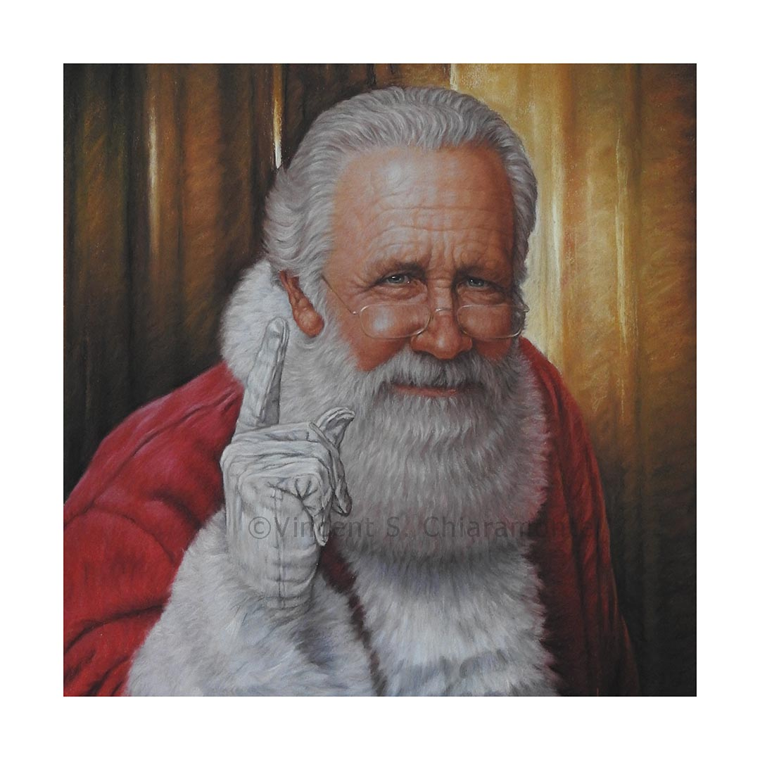 image of print of Santa Claus painted by Vincent S. Chiaramonte